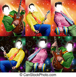 Glamour templates people for photo editing