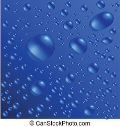 Water drops are on the blue surface Vector seamless...