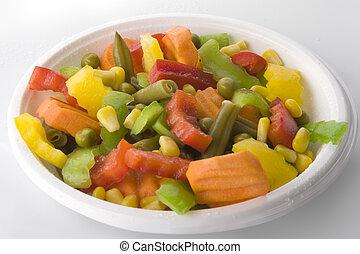 Fresh salad Mix - Fresh salad isolated on the white...