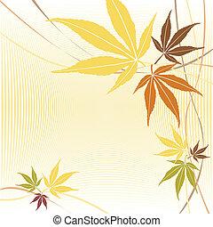 Autumn or fall maple leaves design - Autumn or fall maple...