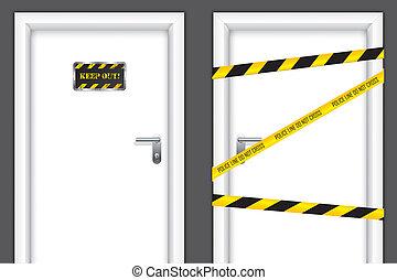 tiltott, ajtók