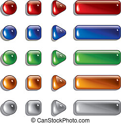 Glass Shapes, button