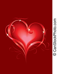 Valentine's card - Valentine's day greeting card with...