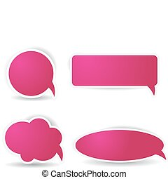 Speech bubbles in pink color