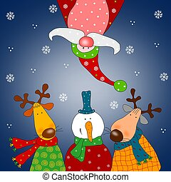 Christmas card - Colorful illustration for children