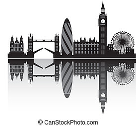 london skyline in detail