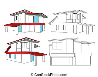 Set house. Vector