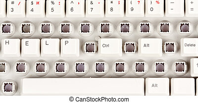 word help, and Ctrl + Alt + Delete on the keyboard partially...
