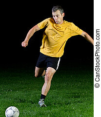 soccer player in a shot