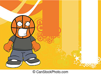basketball kid cartoon background2