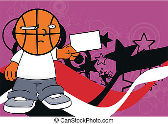 basketball kid cartoon background4