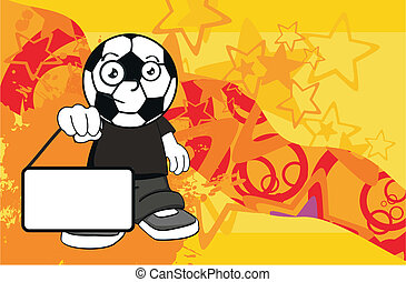 soccer kid cartoon background7