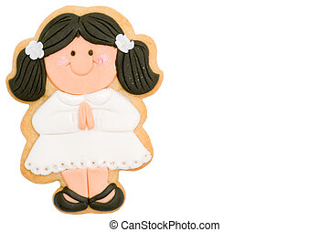 girl first communion reminder - girl first communion cookie...
