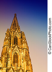 Gothic Cathedral in Cologne (Köln) - This photograph...