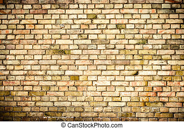 Grunge wall texture with small blocks