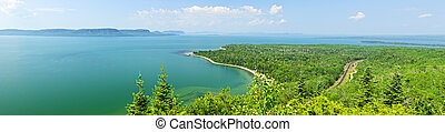Lake Superior panorama - Panoramic landscape of Lake...