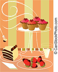 background dessert - is a background of different...