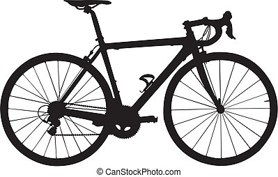 Bicycle - The vector image of a separate silhouette of a...