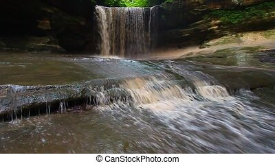 Starved Rock State Park - Illinois - Lasalle Falls flows...