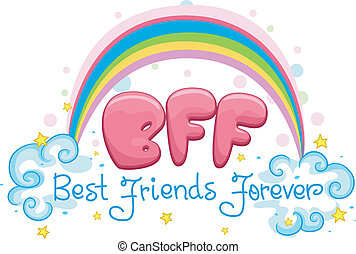 Best Friends Forever - Illustration Featuring the Words Best...
