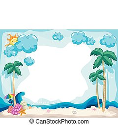 Summer Background - Background Illustration with a Summer...