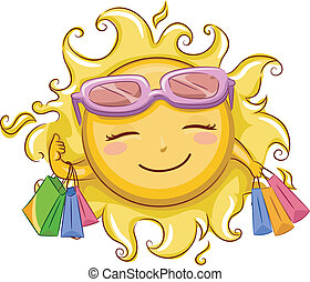 Sun Shopping - Illustration of the Sun Shopping