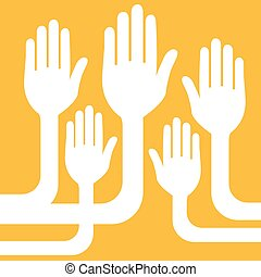 A united group of hands design.