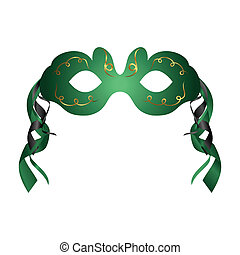 realistic carnival or theater mask isolated - Illustration...