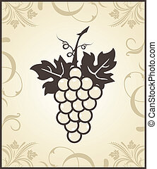 retro engraving of grapevine - Illustration retro engraving...