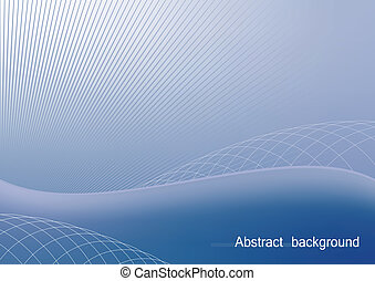 Illustration the blue abstract background for design business card and invitation company style - vector