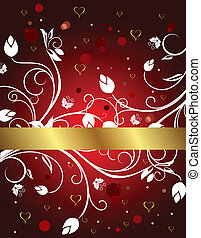 congratulation floral card for Valentine's day