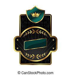royal label with golden frame