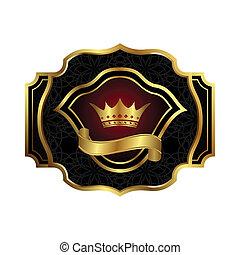 color decorative ornate gold frame