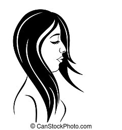 beauty face girl portrait - Illustration beauty face girl...