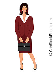 business women with case isolated - Illustration business...