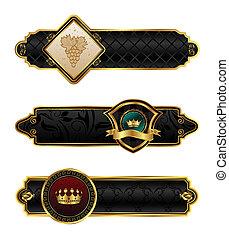 black-gold decorative frames