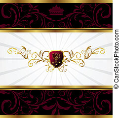 ornate golden decorative frame - Illustration ornate golden...