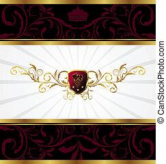 ornate golden decorative frame - Illustration ornate golden...