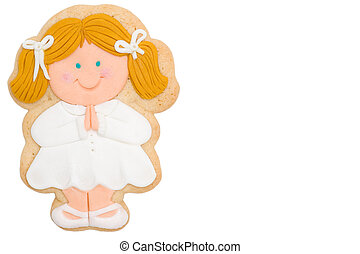 Cookie blonde girl first communion - first communion cookie...
