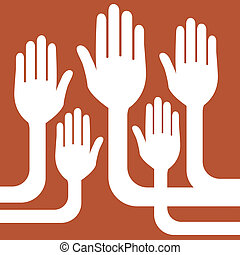 A united group of hands vector.