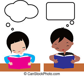 Kids learning - Children learning, school posters, frame,...