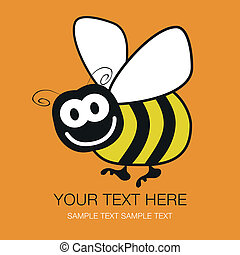 Bumble bee design - Bumble bee design with copy space vector...