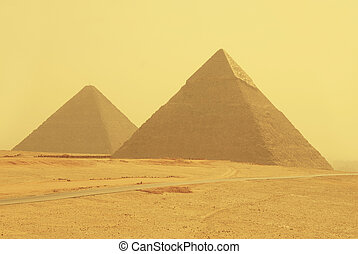 Two pyramids in Egypt