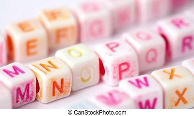 Row white blocks with colored letters - row white blocks...