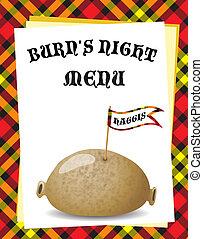 Burn\'s Night menu - A menu template for a \'Burn\'s Night\'...