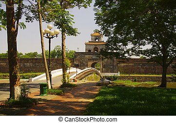 A gate of the citadel of Hue