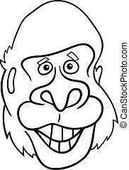 gorilla ape for coloring book
