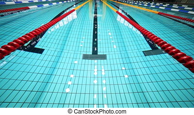Deep swimming pool with roads - deep sports swimming pool...