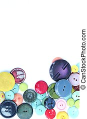Bright fun vertical sewing buttons - Bright and colourful...