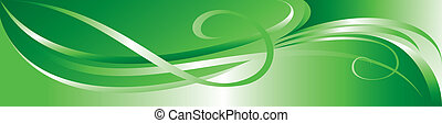 Vector green flourish background